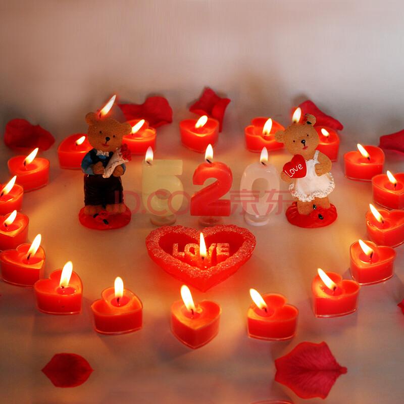 心形浪漫蜡烛套餐 创意生日蜡烛 求婚表白蜡烛 情人节浪漫蜡烛 心形图片