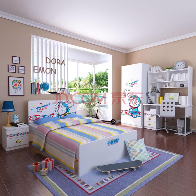 哆啦a梦男孩家具套房儿童床儿童家具组