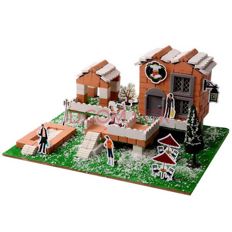 乐筑儿童益智玩具手工diy玩具建筑多种拼法动手积木