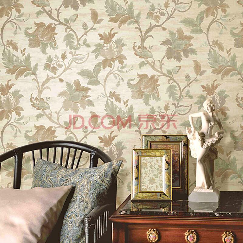 t纸尚美学墙纸 欧式复古x80124无纺布圆网纱线客厅卧室背景壁纸 x80图片