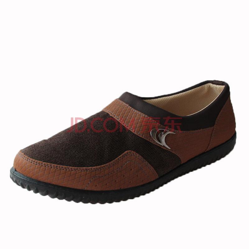 货到付款 步福祥 老北京布鞋 时尚休闲鞋 单鞋 男鞋C10 驼色 42