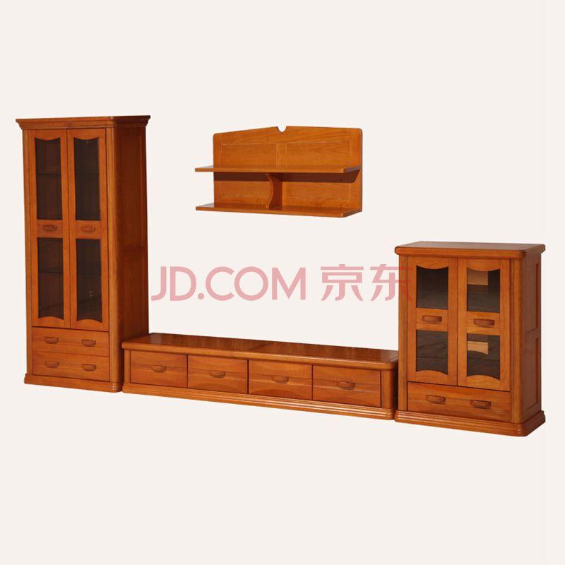 新款水曲柳客厅柜 电视柜 酒柜组合 实木厅柜组合 水曲柳客厅组合家具
