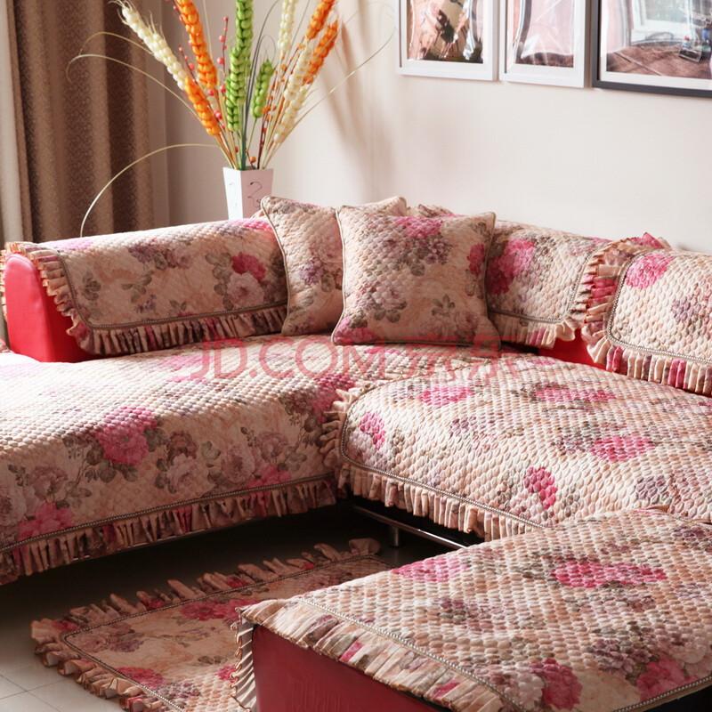欧式绗缝防滑沙发垫坐垫布艺沙发套