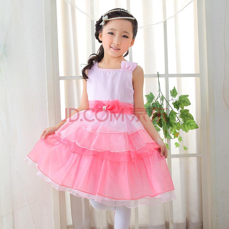 花童裙婚纱裙女童钢琴主持表演摄影装生日派对礼服装