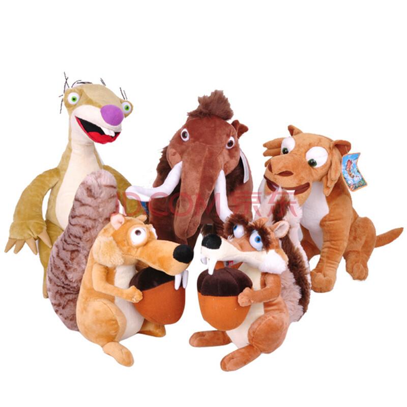 动漫电影冰河世纪冰川世纪松鼠树懒猛犸象剑齿虎毛绒玩具公仔 剑齿虎