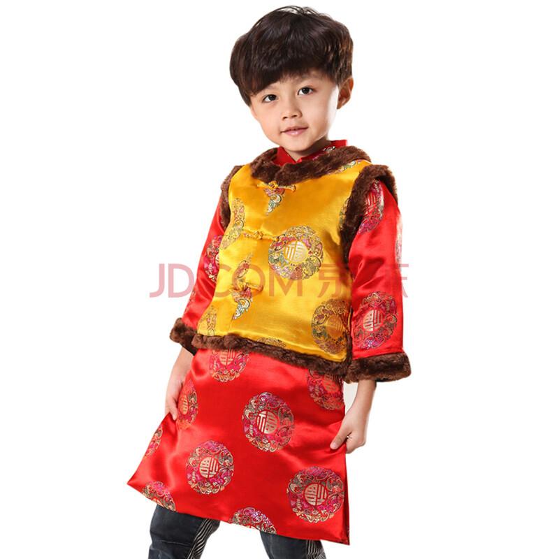 儿童唐装男童冬装套装