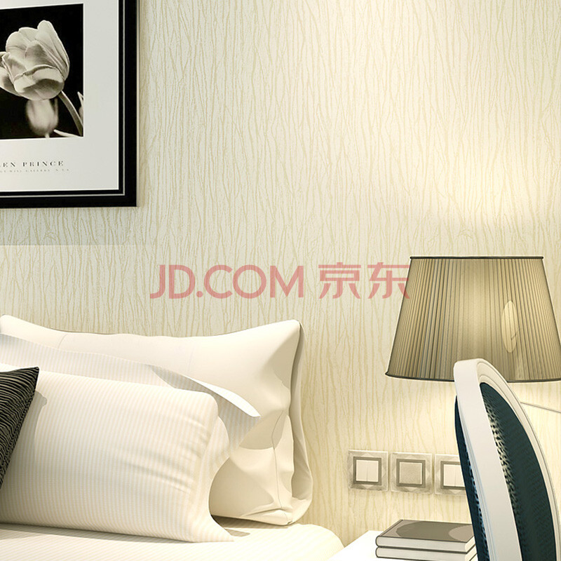 蓝黄粉灰纯色无纺布客厅卧室背景壁纸
