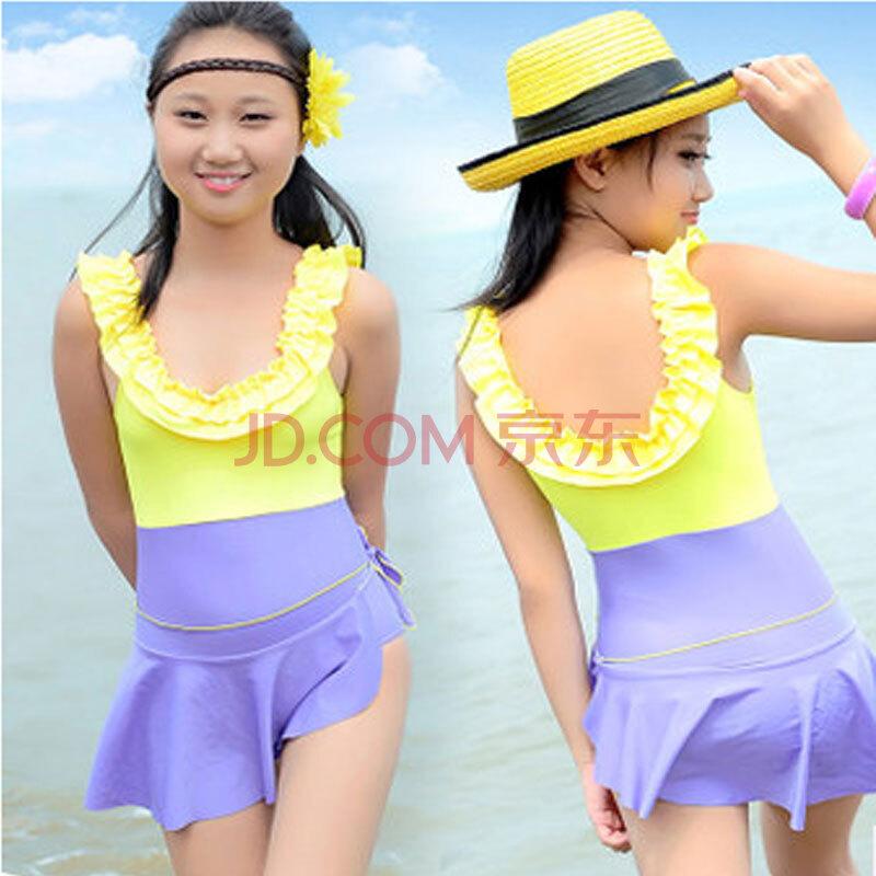 【尤萨】少女连体裙式游泳衣女孩泳衣装10 15岁可爱 800