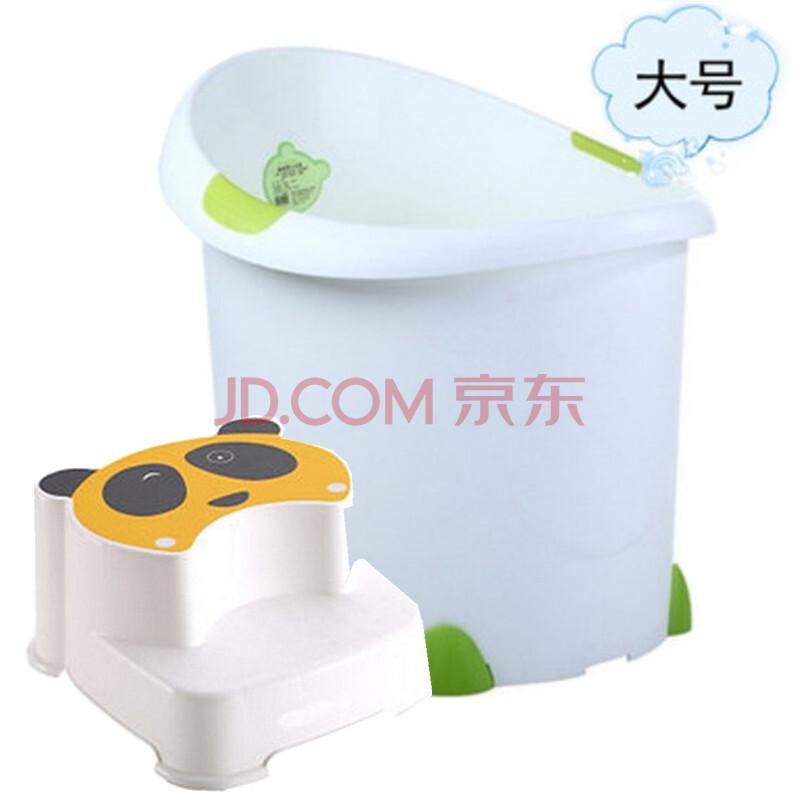 宝贝时代塑料大小号圆形浴桶可坐沐浴桶+儿童熊猫