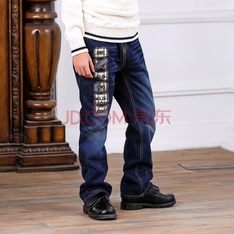 大男童牛仔裤加绒长裤