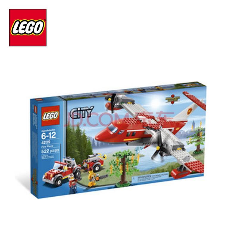 乐高lego 城市系列 消防飞机 儿童积木玩具 l4209
