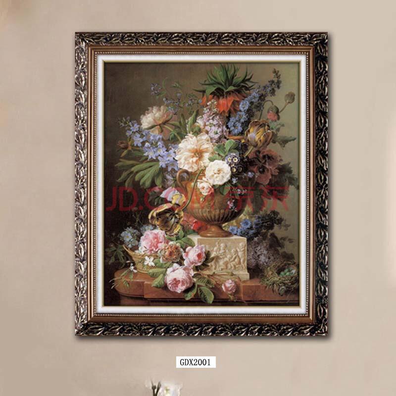 绿牌客厅卧室欧式古典花卉装饰画 尺寸6 90*150-810元一幅图片