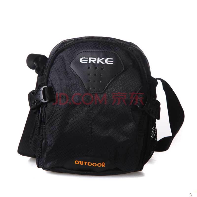 鸿星尔克erke 新品上市休闲小背包挎包单肩包w 10312102020 正黑18*9*图片