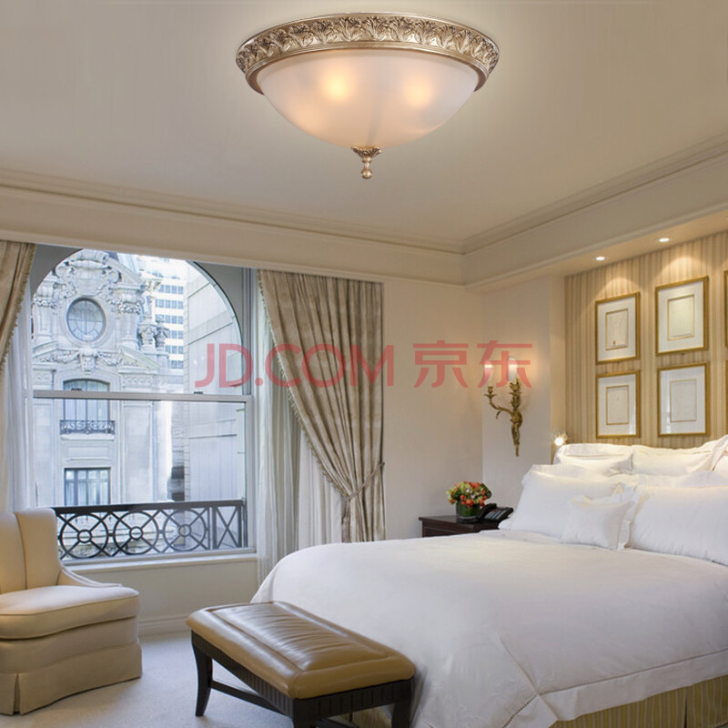欧式田园卧室吸顶灯图片