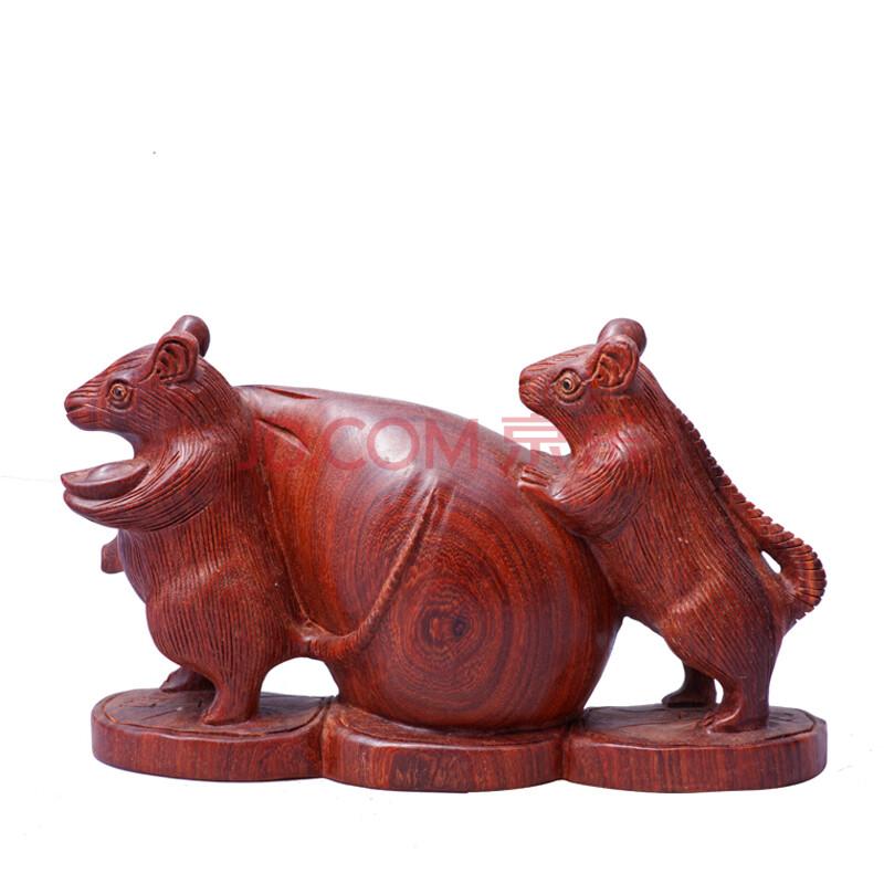 红木老鼠 十二生肖