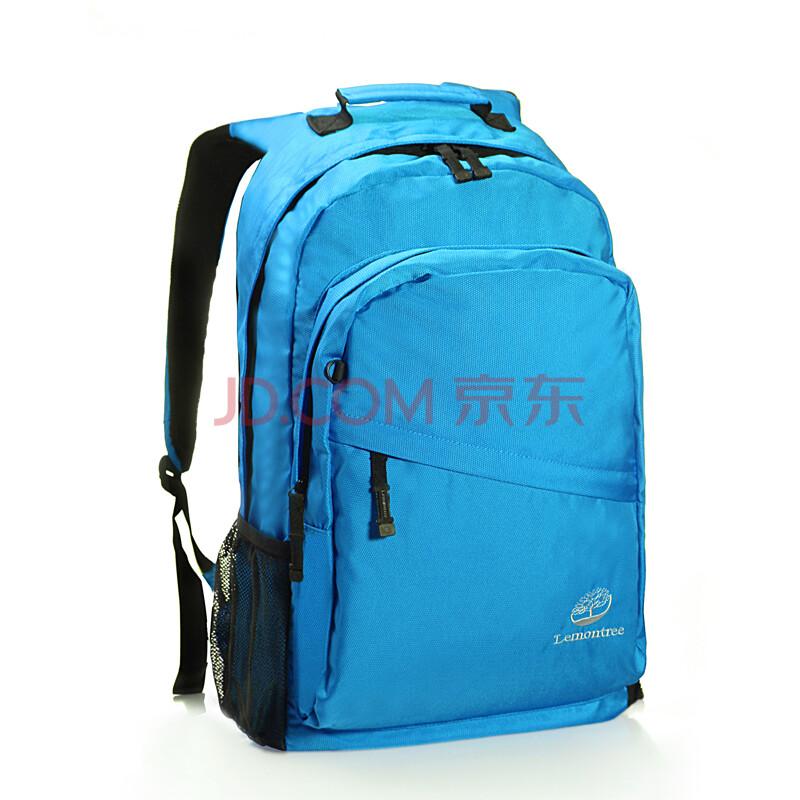 行运动背包电脑包 水蓝色