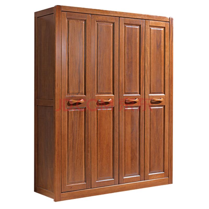 对开门胡桃木实木衣柜大衣橱 简约中式木质大衣柜 616