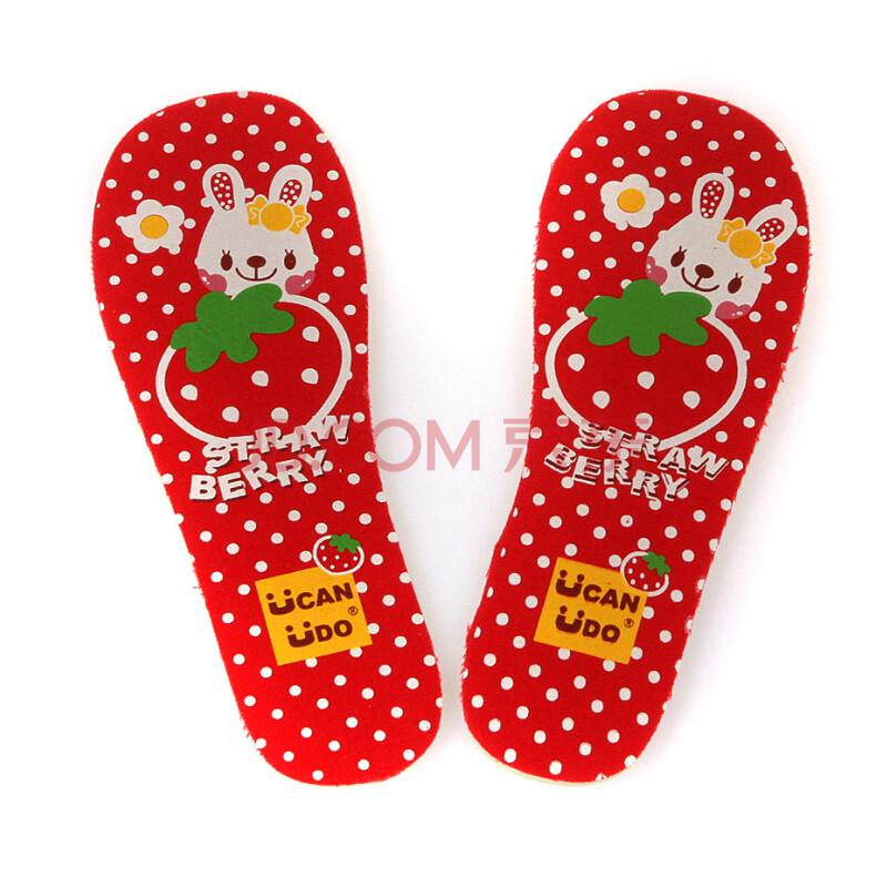 ucanudo儿童鞋垫可裁剪男女童卡通透气吸汗帆布乳胶