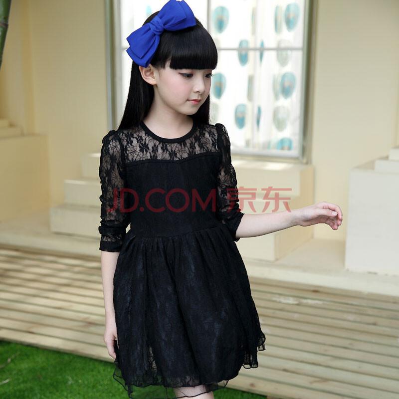 款夏装中大童韩版连衣裙儿童裙子女孩裙子蕾丝公主裙
