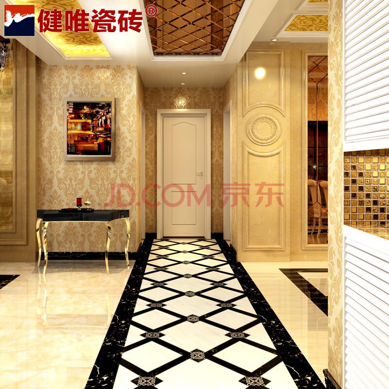 客厅走廊地砖造型欧式客厅地砖造型图片4