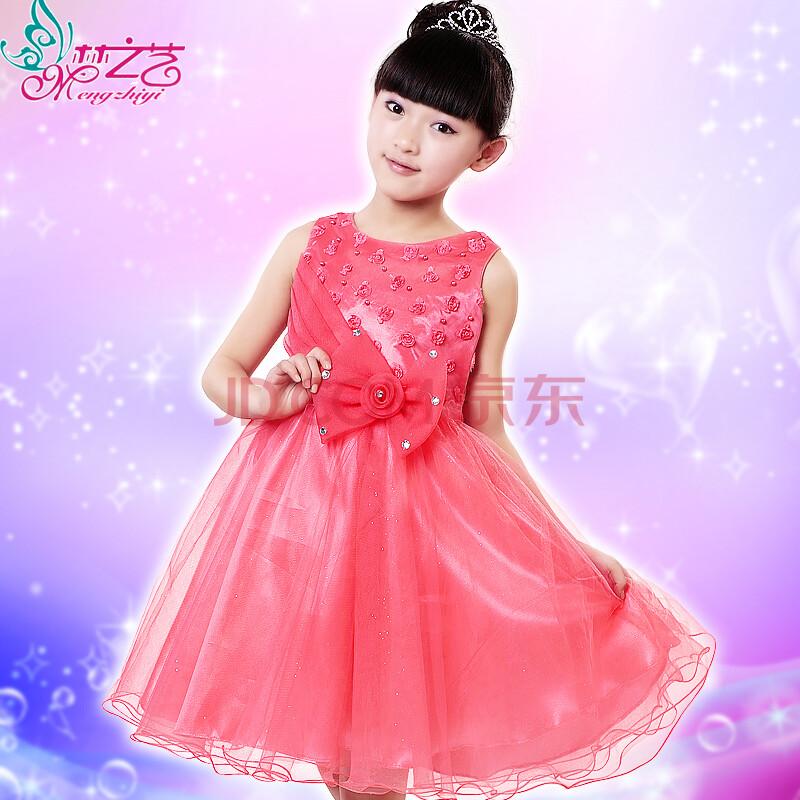 儿童演出服 儿童公主婚纱裙礼服花童蓬蓬裙