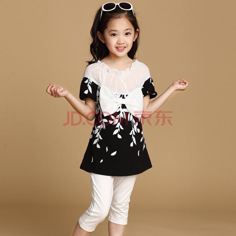 韩版2014新款儿童套装女童夏大中童短袖