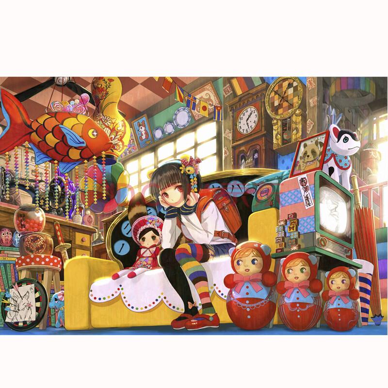 000片拼图 成人益智拼图玩具 风景 动漫画 装饰