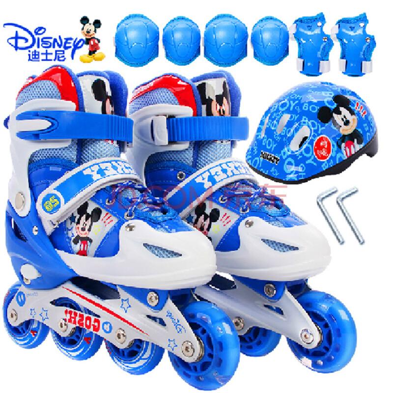 直排轮儿童套装滑冰鞋