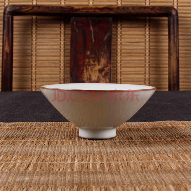 龙圣华苑 春山玉品 汝窑斗笠杯 纯手工制作 高端茶器