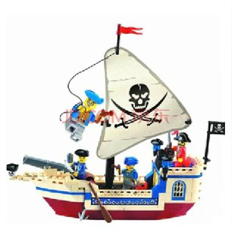 启蒙海盗船系列拼插拼装积木