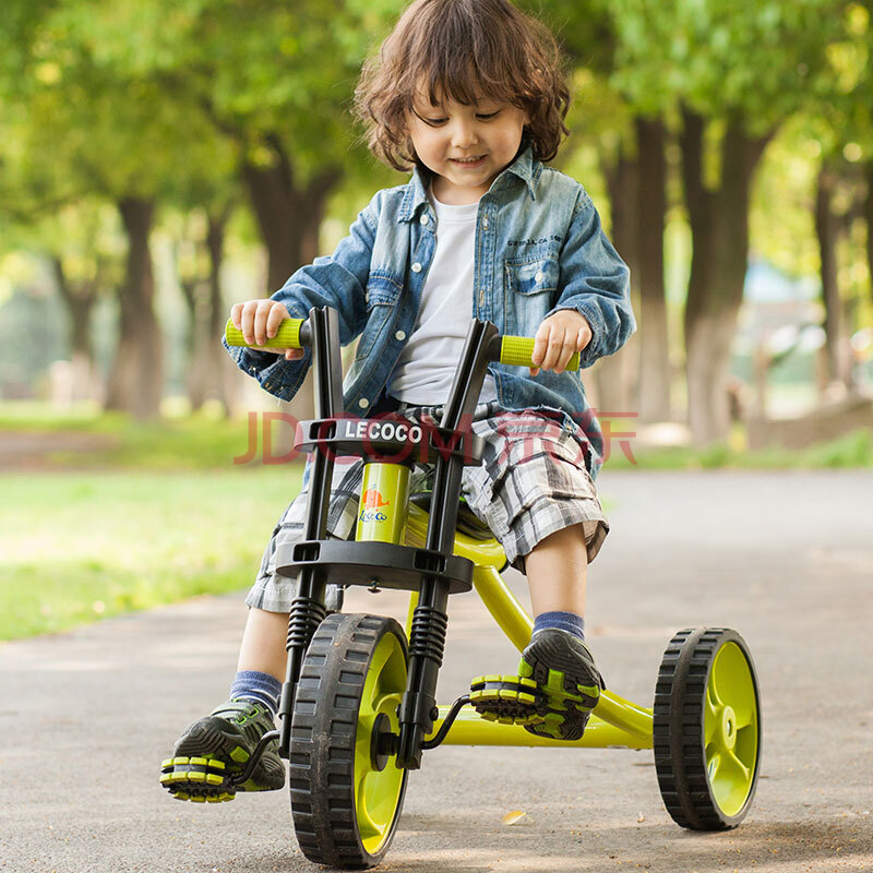 乐卡儿童三轮车脚踏车宝宝童车沙滩车大哈雷