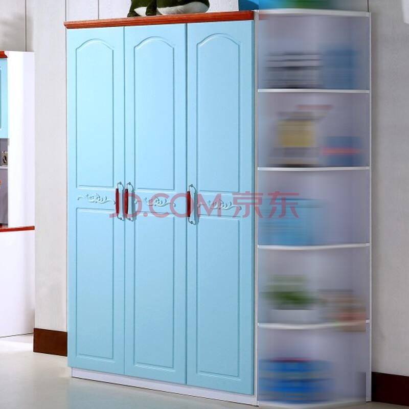 本屋儿童家居儿童彩色实木衣柜宜家3门衣柜1