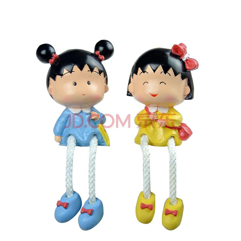 s&y盛圆家居日式卡通人物可爱樱桃小丸子树脂吊脚娃娃