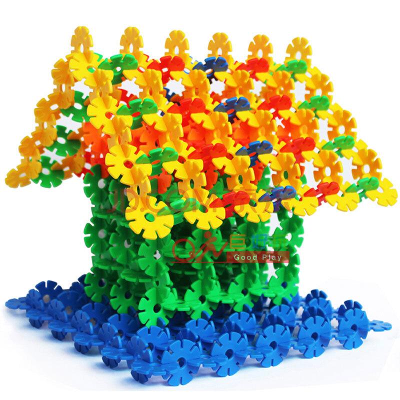 塑料早教玩具幼儿园桌面游戏雪花片拼插玩具巨好玩