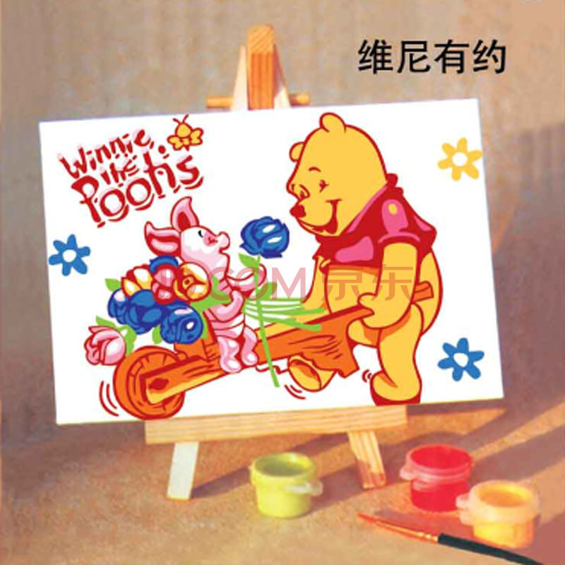 diy儿童益智 手工 手绘数字油画卡通 画风景画 10*15cm