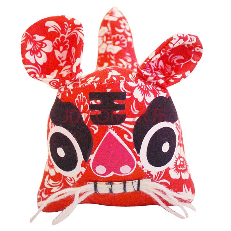 小鸡啄米 传统胡须布老虎礼物 纯手工制作儿童玩具 情侣玩偶结婚礼品