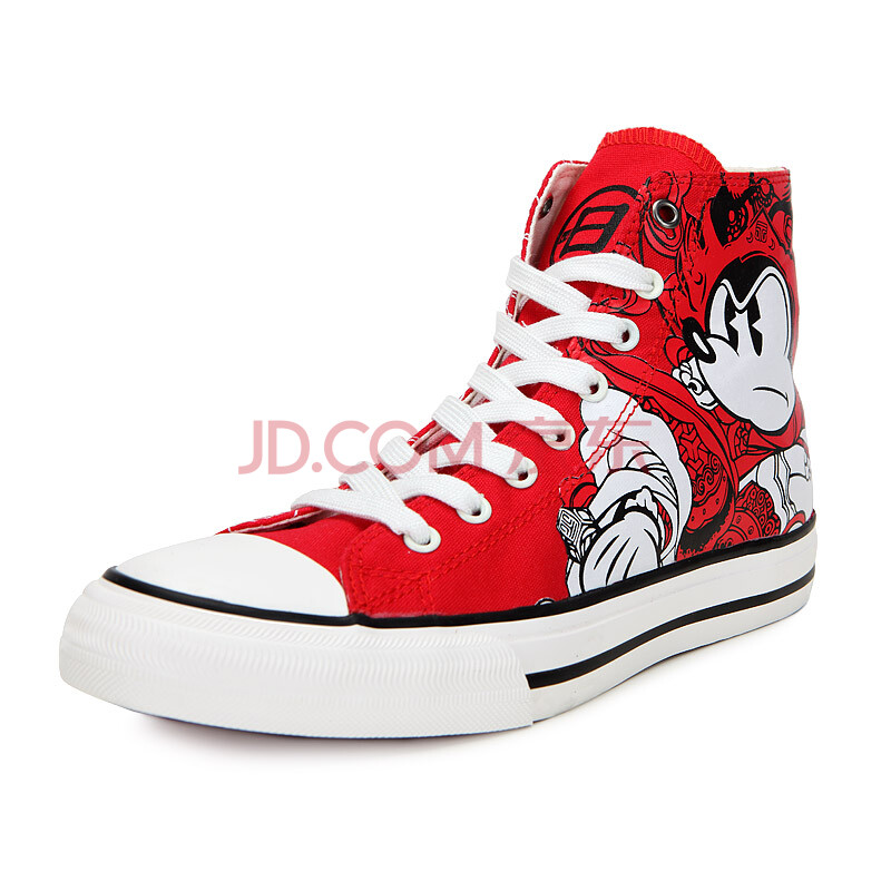 disney米奇鞋子mickey民族风帆布女鞋xf1121001