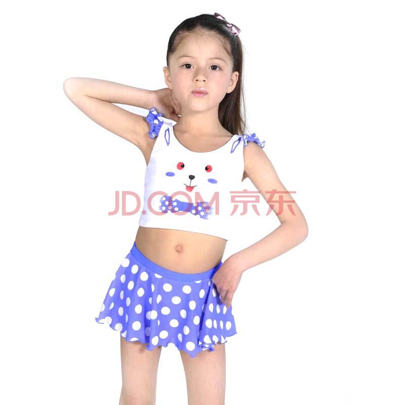 儿童吊带裙式两件套泳衣