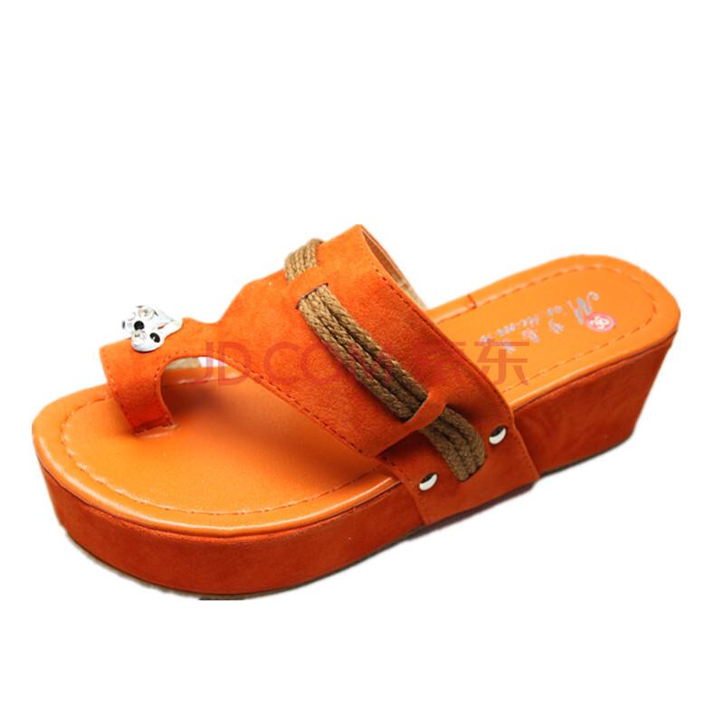 凉鞋/凉拖 韩版高跟坡跟厚底鞋