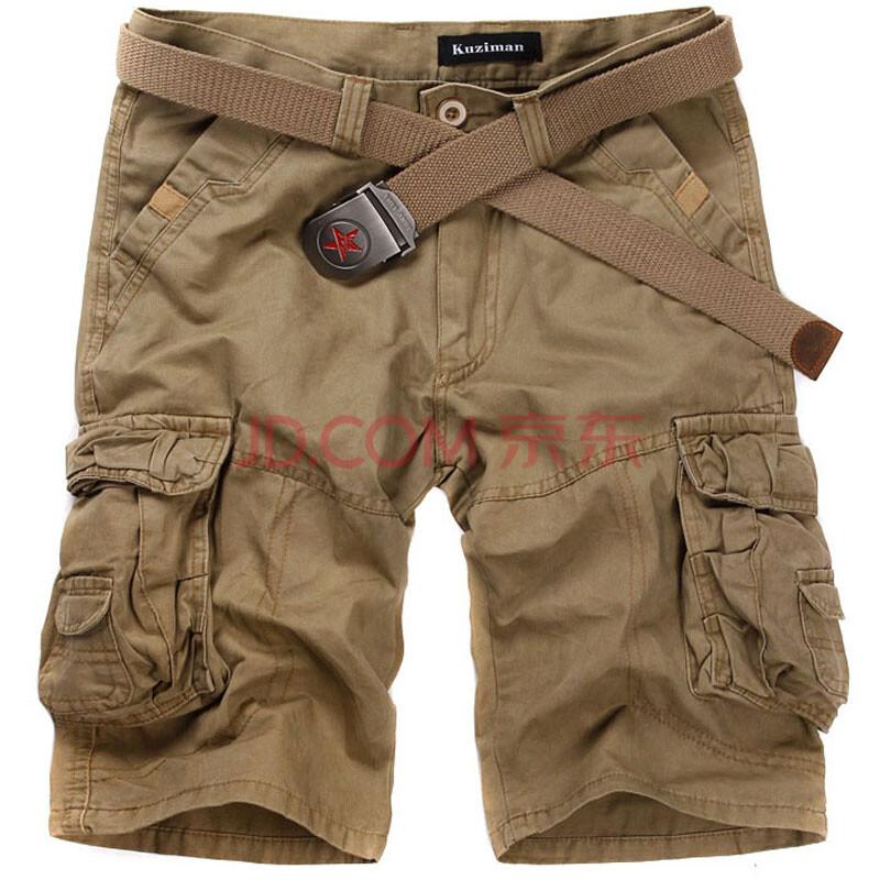 kuziman夏装热卖新款韩版男士多口袋款工装短裤