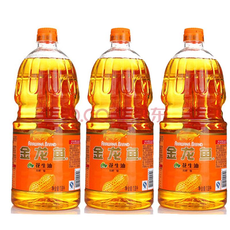 金龙鱼特香花生油1.8l*3桶