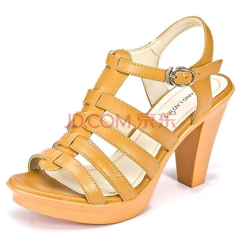 罗马女士高跟凉鞋