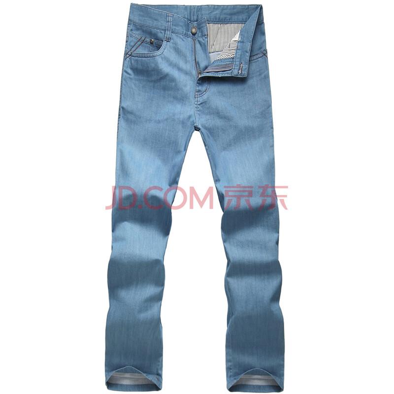 阿仕顿男士商务直筒水洗全棉休闲牛仔裤