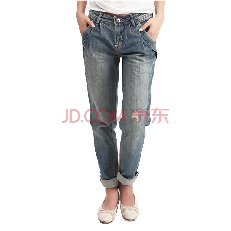 艺小直筒牛仔裤