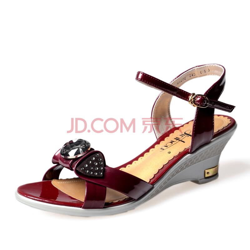 舒适优雅时尚中跟女士凉鞋61272