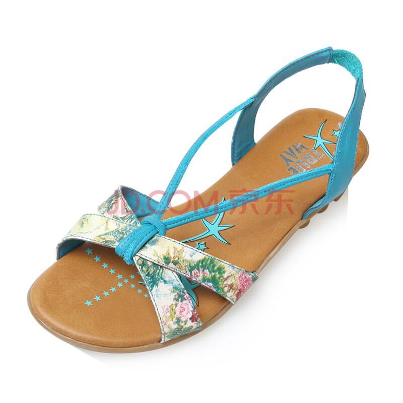 真皮波西米亚女凉鞋
