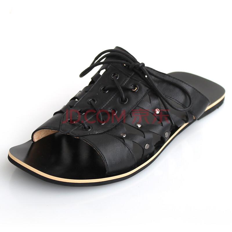 2012新款休闲男士真皮凉鞋沙滩鞋男