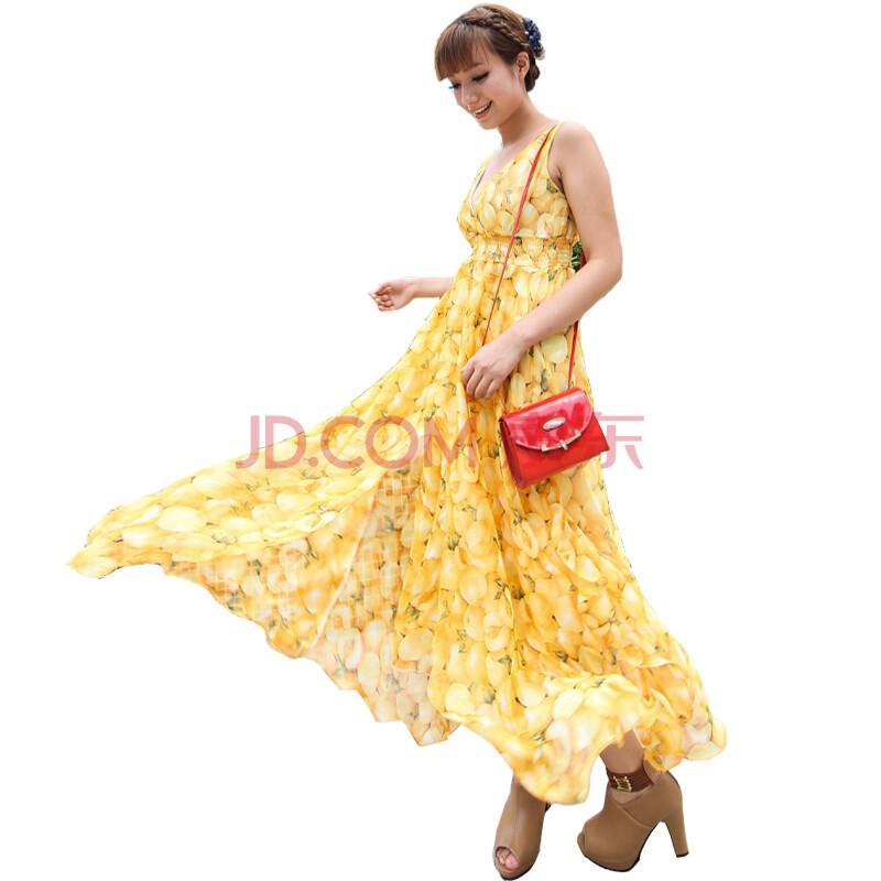 钦秀2012夏装新款女士波西米亚韩版长裙沙滩裙雪纺