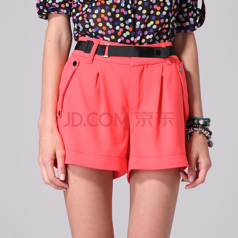 韩国2012夏装新款女装纯色显瘦短裤k007