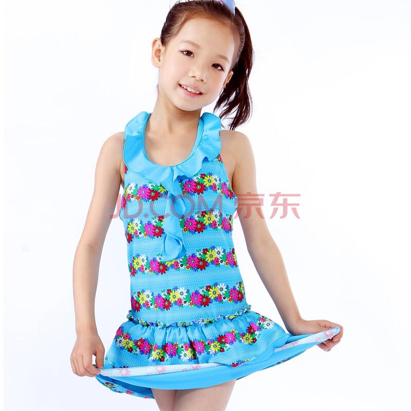 女童韩国连体儿童游泳衣女
